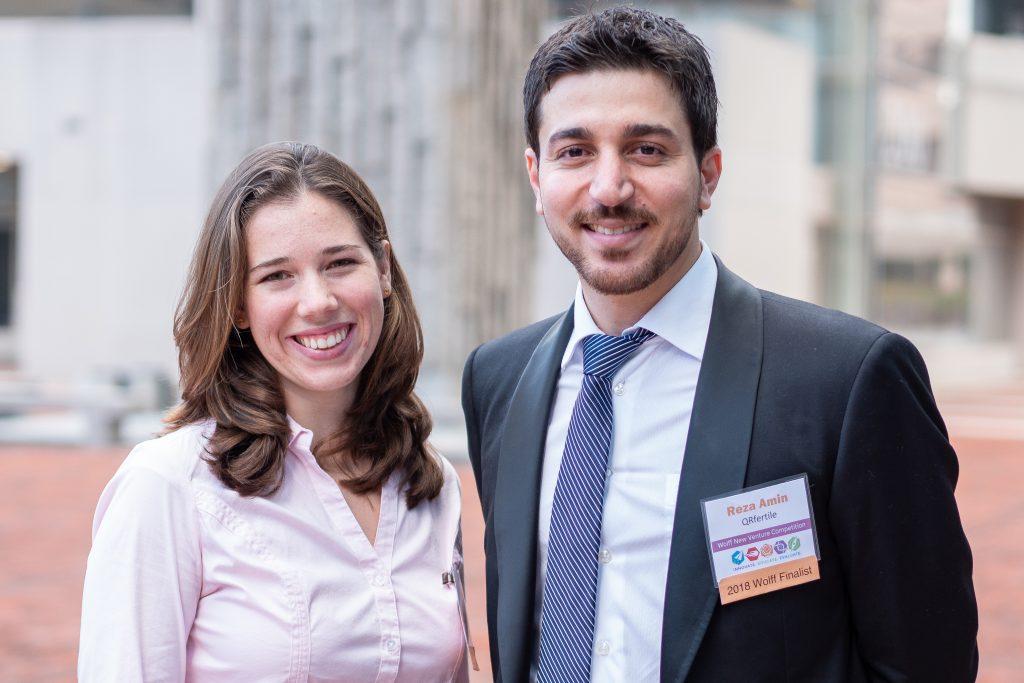 Reza Amin and Stephanie Knowlton