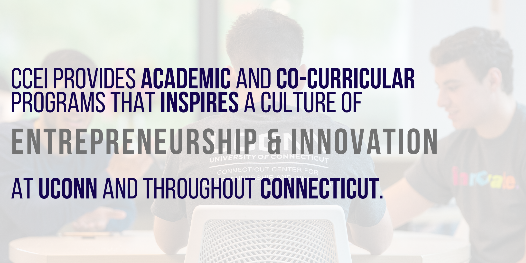 CCEI provides academic and co-curricular programs at UConn